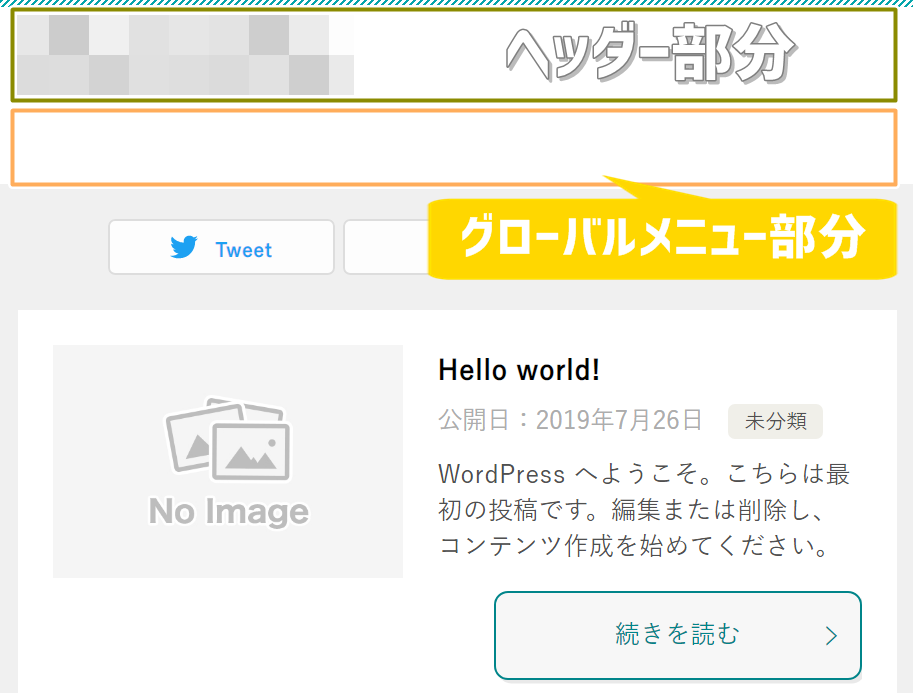 グローバルメニューの場所、賢威8.0トップページ