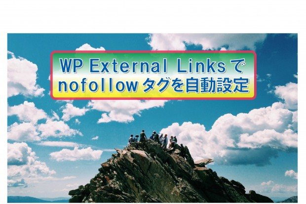 WP External Linksでnofollowタグを自動設定