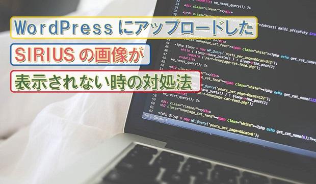 WordPressにアップロードしたSIRIUSの画像が表示されない時の対処法