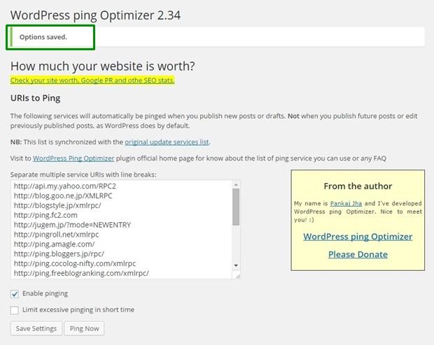WordPress Ping Optimizer 1-6