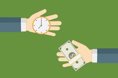 時間を対価にお金を貰うイメージ