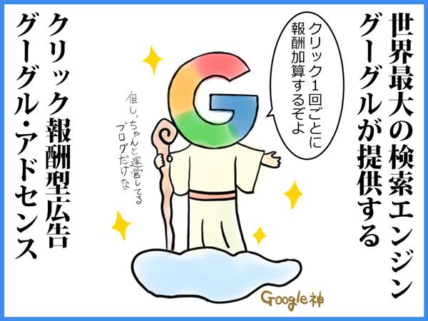 グーグル・アドセンス、わかりやすく、イラスト