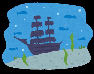 検索エンジンの海に沈んだはじめてのトレンドブログ、イメージ、イラスト