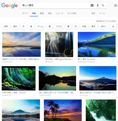グーグルで画像検索した時の画面